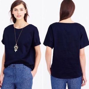 J. Crew Collection Double Knit T-Shirt in Navy